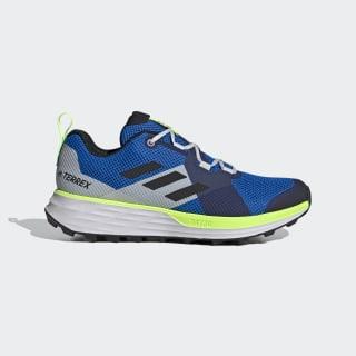 Terrex Two Trail Running Schoenen Glory Blue / Core Black / Signal Green EH1839
