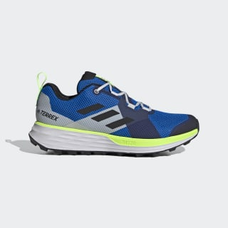 Zapatilla Terrex Two Trail Running Glory Blue / Core Black / Signal Green EH1839