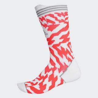 Alphaskin Construction Tape Socks White / Solar Red / Grey Three FK0931