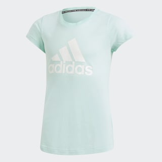 Camiseta Must Haves Badge of Sport Clear Mint / White DV0327