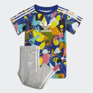 T-Shirt-Kleid-Set Multicolor / White ED7710