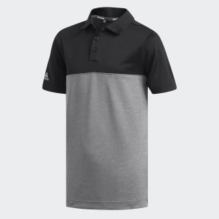Heather Colorblock Polo Shirt Black / Tmag Grey Five Htr DQ2078