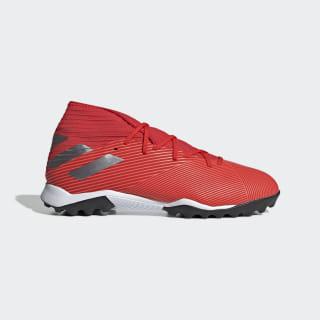 Zapatos de fútbol Nemeziz 19.3 Turf Boots Active Red / Silver Metallic / Solar Red F34427