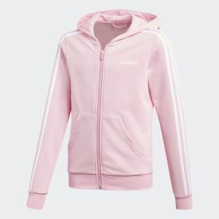Jaqueta Capuz Essentials 3-Stripes True Pink / White DV0369