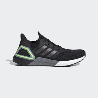Ultraboost 20 Shoes Core Black / Night Metallic / Signal Green EG0707