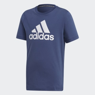 Camiseta  Badge of Sport Must Haves Tech Indigo / White FM6452