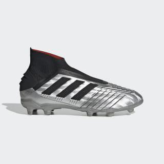 Футбольные бутсы Predator 19+ FG silver met. / core black / hi-res red s18 G25787