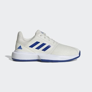 CourtJam Schuh Off White / Team Royal Blue / Cloud White EH1104