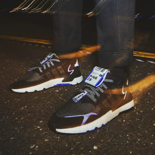 Nite Jogger Shoes Core Black / Ftwr White / Hi-Res Blue EG2206