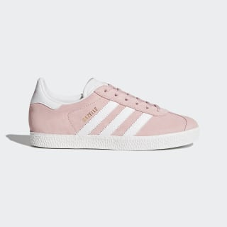 Zapatilla Gazelle Icey Pink / Ftwr White / Gold Metallic BY9544