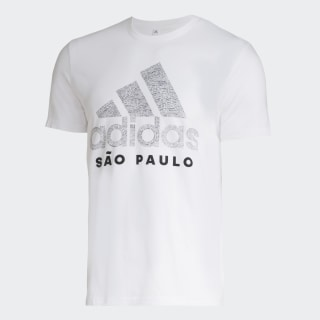 Camiseta Cidade SÃO PAULO White GG1935