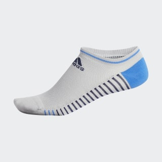 Single Performance No-Show Socks Grey Two / True Blue DP1633