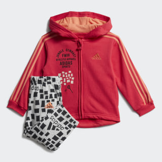 Graphic Hooded Jogger Set Active Pink / Semi Coral ED1164