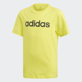 T-shirt Essentials Linear Logo Shock Yellow / Black DV1812