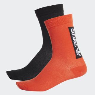 Thin Crew Socks 2 Pairs Active Orange / Black EK2876