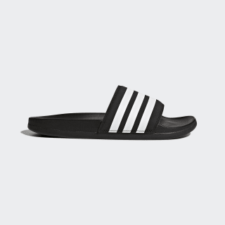 Adilette Cloudfoam Plus Stripes Slides Core Black / Cloud White / Core Black AP9966