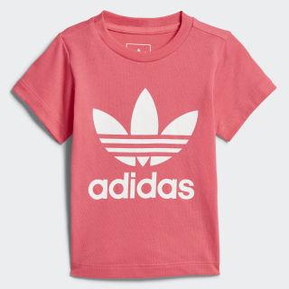 Camiseta Trefoil REAL PINK S18/WHITE CE4317