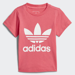 Playera Trifolio REAL PINK S18/WHITE CE4317