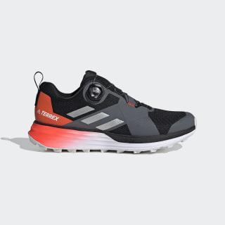 Terrex Two Boa Trail Running Shoes Core Black / Silver Metallic / Solar Red EE8822