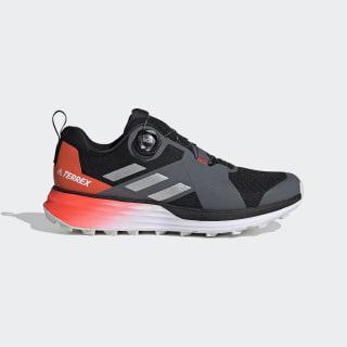 Zapatilla Terrex Two Boa Trail Running Core Black / Silver Metallic / Solar Red EE8822