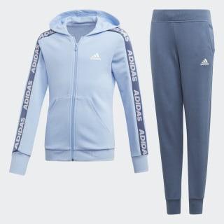 Tuta con cappuccio Glow Blue / White ED4637