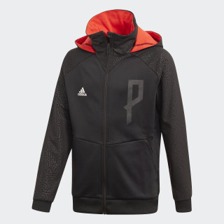 Felpa con cappuccio Predator Full-Zip Black / Hi-Res Red FJ3878