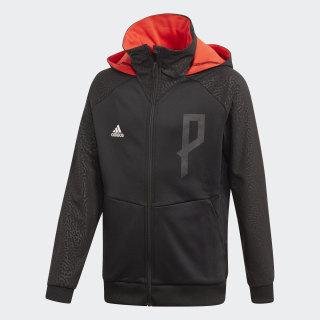 Veste à capuche Predator Full-Zip Black / Hi-Res Red FJ3878