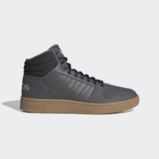 Утепленные кроссовки Hoops 2.0 Mid grey five / grey five / core black EE7373