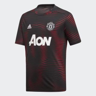 Camiseta de Local Prepartido Manchester United Black / Real Red DP2284
