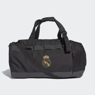Real Madrid Duffel Bag Medium Black / Dark Football Gold DY7713