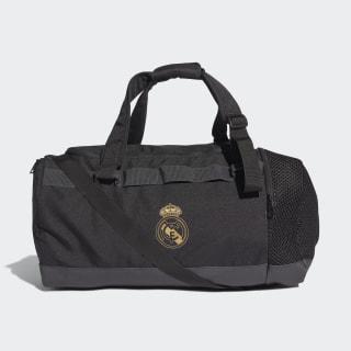 Real Madrid Duffelbag M Black / Dark Football Gold DY7713