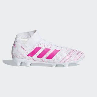 Футбольные бутсы Nemeziz 18.3 FG ftwr white / shock pink / shock pink BB9436