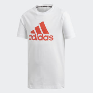 Must Haves Badge of Sport Tee White / Active Red DV0827