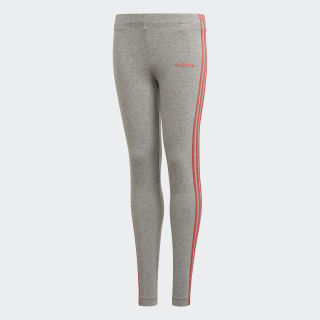 Calzas largas ESSENTIALS medium grey heather/prism pink DV0373