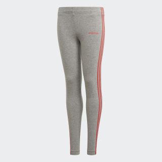 Licras Essentials 3 Rayas medium grey heather/prism pink DV0373