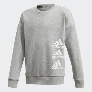 Must Haves Crew Sweatshirt Medium Grey Heather / White FM6504