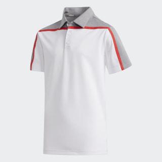 Heathered Colorblock Polo Shirt White FI8713