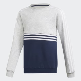 Authentics Crew Sweatshirt Light Grey Heather / Collegiate Navy / White DH4851