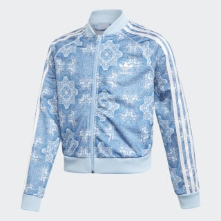 Culture Clash Cropped SST Track Jacket Multicolor / Clear Sky / White DV2366