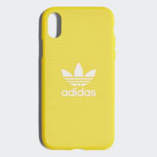 Capa de Encaixe Adicolor – iPhone X Yellow / White CJ6196