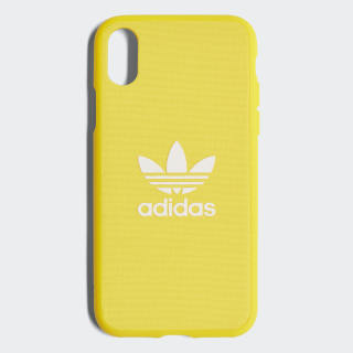Coque emboîtable Adicolor iPhone X Yellow / White CJ6196