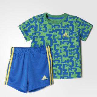 Комплект: футболка и шорты Country Summer Signal Green / Bright Yellow BK3007