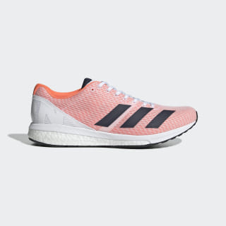 Adizero Boston 8 Shoes Cloud White / Collegiate Navy / Solar Orange F34054