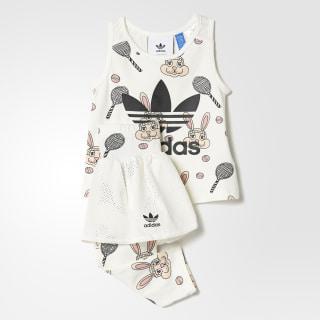 Комплект: майка и брюки Mini Rodini off white / multicolor BK5504
