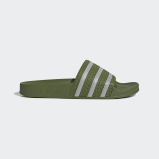 Adilette Slides Tech Olive / Cloud White / Tech Olive EE6183