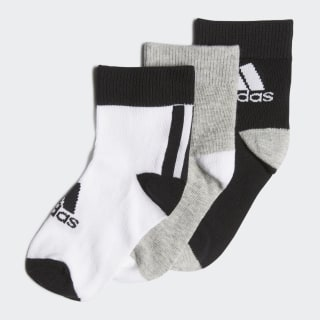 Ankle Socken, 3 Paar Black / Medium Grey Heather / White FN0997