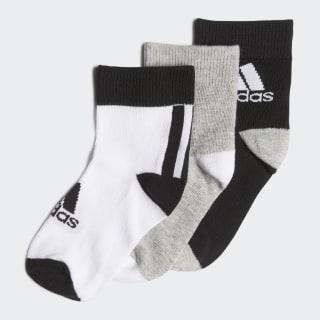 Ankle Socks 3 Pairs Black / Medium Grey Heather / White FN0997