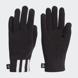 Guanti 3-Stripes Conductive Black / White / Black DZ4561