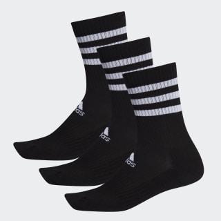3-Streifen Cushioned Crew Socken, 3 Paar Black / Black / Black DZ9347