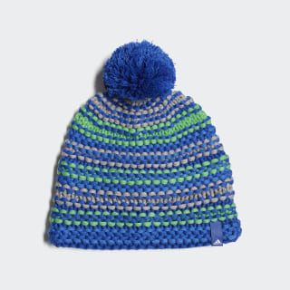 Young Athletes Chunky Beanie Collegiate Royal / Shock Lime / White DJ2297